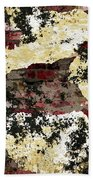Decadent Urban Red Bricks Painted Grunge Abstract Bath Towel
