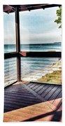 Deck With Ocean View Bath Towel