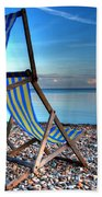 Deckchairs On The Shingle Bath Towel