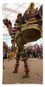 Decorated Camel Pushkar Bath Towel