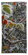 Decorated With Leaves Bath Towel