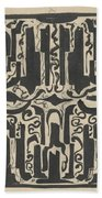 Decorative Design, Carel Adolph Lion Cachet, 1874 - 1945 H Bath Towel