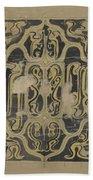Decorative Design, Carel Adolph Lion Cachet, 1874 - 1945 Vq Bath Towel