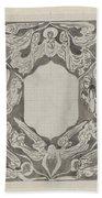 Decorative Design With Angels, Carel Adolph Lion Cachet, 1874 - 1945 Bath Towel