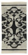 Decorative Design With Fish, Carel Adolph Lion Cachet, 1942 Hand Towel