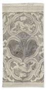 Decorative Design With Leaf Motif, Carel Adolph Lion Cachet, 1874 - 1945 Bath Towel