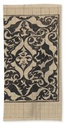 Decorative Design With Mask, Carel Adolph Lion Cachet, 1874 - 1945 Hand Towel