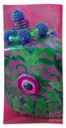 Decorative Pink Bottle Bath Towel