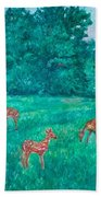 Deer At The Peaks Of Otter Bath Towel by Kendall Kessler