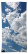 Deep Blue With Lovely Clouds Bath Towel