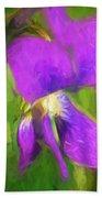 Deep Purple - Wildflower Art Bath Towel