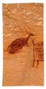Deer And Bison Pictograph - Horseshoe Canyon - Utah Bath Towel