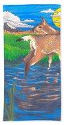 Deer Blessing Bath Towel