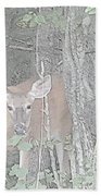 Deer By The Tree Line Hand Towel