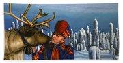 Deer Friends Of Finland Bath Towel