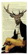Deer Regency Portrait Bath Towel