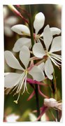 Delicate Gaura Flowers Bath Towel