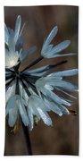 Delicate Silver Wildflower Bath Towel