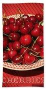 Delicious Cherries Bath Towel