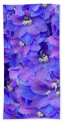 Delphinium Blue Bath Towel