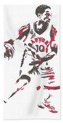 Demar Derozan Toronto Raptors Pixel Art 7 Bath Towel