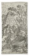 Democritus Mediterend, Jonas Umbach, 1634 - 1693 Bath Towel