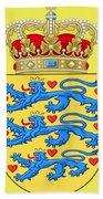 Denmark Coat Of Arms Bath Towel