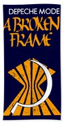 A Broken Frame Logo With Name Bath Towel