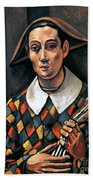 Derain: Harlequin, 1919 Bath Towel