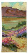 Desert Verbena At Borrego Springs Bath Towel