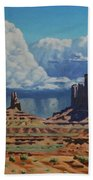Rainstorm Over Monument Valley Hand Towel