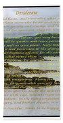 Desiderata Rugged Coastline Bath Towel