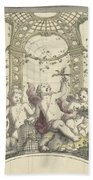 Design For A Gazebo Of Green Trellis, In Which Three Putti Play With Animals, Daniel Marot II, 170 Hand Towel