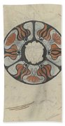 Design For A Memorial Plaque With W And A Coat Of Arms, Carel Adolph Lion Cachet, 1874 - 1945 Bath Towel