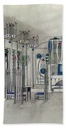 Design For A Music Room With Panels By Margaret Macdonald Mackintosh Bath Towel