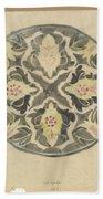 Design For A Plate With Floral Decoration, Carel Adolph Lion Cachet, 1874 - 1945 Bath Towel