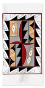 Southwest Collection - Design One In Red Hand Towel