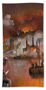 Destruction Of Dudley Castle Hand Towel by Ken Wood