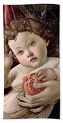 Detail Of The Christ Child From The Madonna Of The Pomegranate  Bath Towel