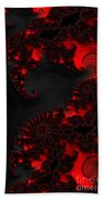 Devil Light   A Fractal Abstract Bath Towel