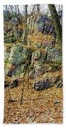 Devils Lake Rock Formation  Bath Towel by Ricky L Jones