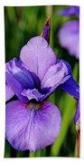 Dew Kissed Iris Bath Towel