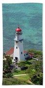 Diamond Head Lighthouse Bath Towel