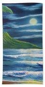Diamond Head Moon Waikiki Beach  #409 Hand Towel