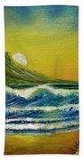 Diamond Head Sunrise #381 Hand Towel