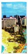 Diamond Head Waikiki Beach Kalakaua Avenue #94 Bath Towel
