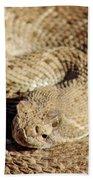 Diamondback Rattlesnake Close-up 062414a Bath Towel