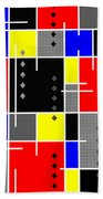 Diamonds And De Stijl Bath Towel by Tara Hutton