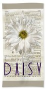 Dictionary Daisy Bath Towel