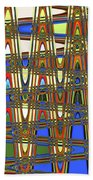 Digital Broad Paint Abstract Bath Towel